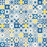 Portuguese tiles. Seamless pattern illustration in traditional style - like Portuguese tiles vector illustration