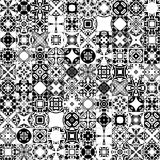 Portuguese tiles. Seamless pattern illustration in traditional style - like Portuguese tiles in black and white royalty free illustration