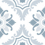 Portuguese tiles, seamless pattern. Vintage background - Victori royalty free illustration