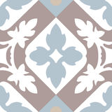 Portuguese tiles seamless pattern. Vintage background - Victoria stock illustration