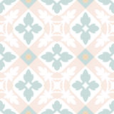 Portuguese tiles seamless pattern. Vintage background. Victorian ceramic tile in vector Stock Photo