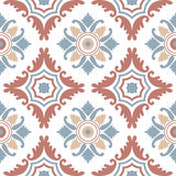 Portuguese tiles, seamless pattern. Vintage background  Royalty Free Stock Photos