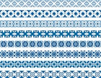 Portuguese tiles. Set of eight illustrated decorative borders made of Portuguese tiles stock illustration