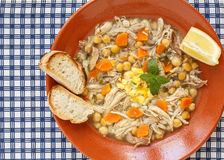 Portuguese traditional chiken soup Stock Photos