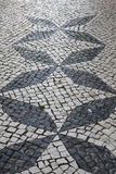 Portuguese traditional patterned cobblestones in Lagos Portugal Stock Photography