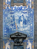 Portuguese traditional religious tiles Royalty Free Stock Photography