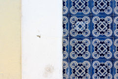 Portuguese Traditional Tiles Exterior Detail Architecture Famous stock photo