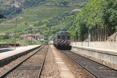 Portuguese train Royalty Free Stock Photo