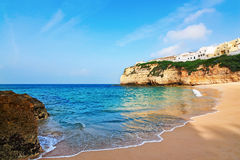 Portuguese villa in Carvoeiro beach . Royalty Free Stock Photo