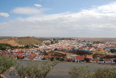 Portuguese village. View over portuguese village of aljustrel royalty free stock photo