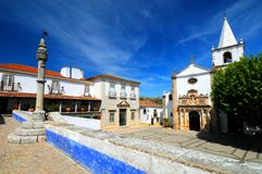 Portuguese village. Buildings in the Portuguese village of Obidos stock photography