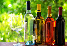 Portuguese wine bottles. Royalty Free Stock Photo