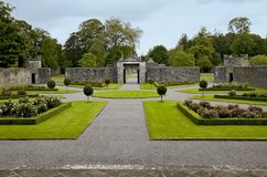 Portumna Castle courtyard and gates Stock Photography