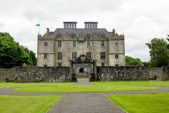 Portumna Castle in Ireland with view of the garden royalty free stock image