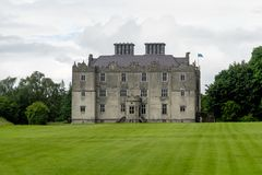 Portumna Castle in Ireland with view of the garden stock photo