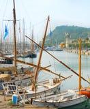 PortVell marina Barcelona Spanien Royaltyfri Bild