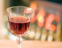 Portwein durch das Feuer stockfotos