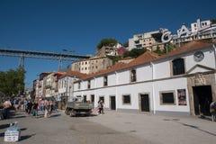 Portweinproduzenten in Vila Nova de Gaia, Porto, Portugal lizenzfreies stockfoto