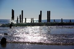 PortWillunga funkelndes Meer u. Welle Stockfoto