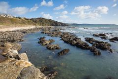 Portwrinkle Cornwall England UK coast view Stock Photo