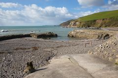 Portwrinkle Cornwall England UK harbour near Looe Stock Image
