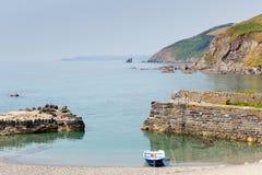 Portwrinkle hamn Cornwall England, Förenade kungariket Royaltyfria Foton
