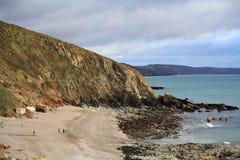 Portwrinkle (kornisch: Porthwykkel) ist ein kleines Küsten- Dorf in Südost-Cornwall Stockbild