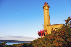 Portzic Lighthouse. At sunrise. Brest, Brittany, France Royalty Free Stock Photography