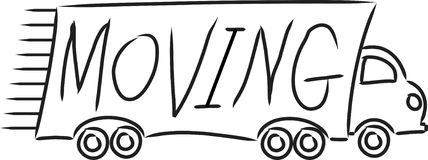 poruszająca ciężarówka royalty ilustracja
