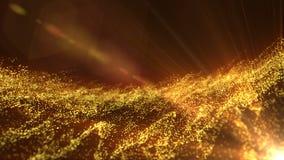 Poruszające złociste cząsteczki sprawnie zapętlać ilustracja wektor