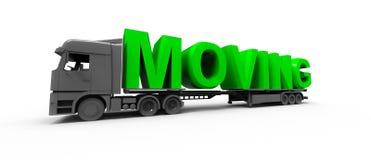 Poruszający ciężarowy pojęcie Fotografia Stock