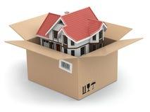 Poruszający dom. Rynek nieruchomości ilustracji