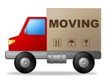 Poruszający dom Znaczy zmianę siedziba I Komunikuje ilustracja wektor