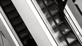 Poruszający eskalator up, mecanic, zbiory