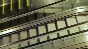 Poruszający eskalator up, mecanic, zdjęcie wideo