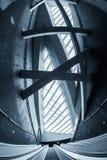 Poruszający eskalator w centrum biznesu Obraz Stock