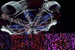 Poruszający karnawałów światła zdjęcie stock