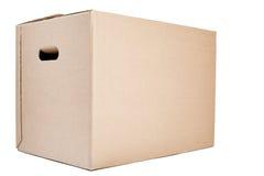 Poruszający lub Składowy pudełko na bielu Obraz Royalty Free