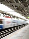 Poruszający pociąg Fotografia Royalty Free