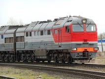 Poruszający pociąg Obraz Royalty Free