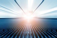Poruszający przejście i światło na tle Zdjęcie Stock