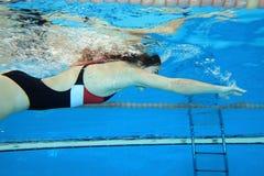 poruszający underwater Fotografia Stock