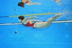 Poruszający underwater Obrazy Royalty Free