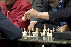 poruszająca chess królowej. Fotografia Royalty Free