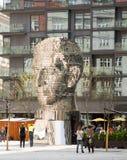 Poruszająca statua Franz Kafka w Praga Zdjęcia Stock
