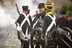Poruszający naprzód artyleria Zdjęcia Royalty Free