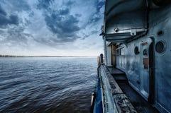 Poruszający statek Zdjęcia Royalty Free