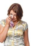 poruszone dziewczyn łzy Zdjęcia Stock