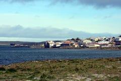 Porvenir é uma vila no Chile na ilha de Tierra del Fuego fotografia de stock royalty free
