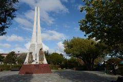 Porvenir é uma vila no Chile na ilha de Tierra del Fuego imagens de stock